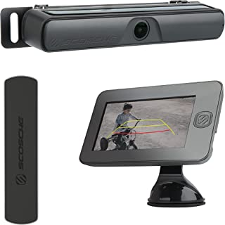 "SCOSCHE WBUMEB-XC0 Wireless Solar Powered Backup Camera Bundle with 4.3"" Monitor, License Plate Frame and MagicMount Elite..."