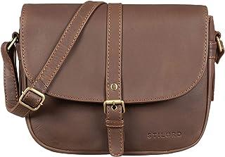 """STILORD Kira"""" Umhängetasche Frauen Leder Vintage kleine Handtasche zum Ausgehen Klassische Abendtasche Partytasche Freizeittasche Echtleder"""