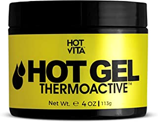Hot Vita Hot Gel ThermoActive – Workout Enhancer Sweat Cream with Coconut oil, Jojoba Seed Oil, Coffee Arabica Seed Extract, Olive Oil and Green Tea Leaf Extract for Women (4 Ounce)