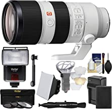 Sony Alpha E-Mount FE 70-200mm f/2.8 GM OSS Zoom Lens with Battery & Charger + 3 UV/CPL/ND8 Filters + Flash + Soft Box + Kit
