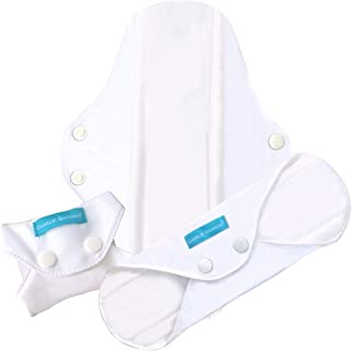 Charlie Banana Reusable Feminine Pads Super White, White