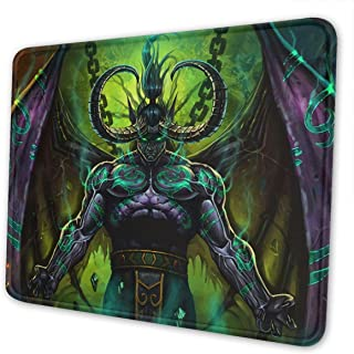 World of Warcraft Illidan Mouse Mat Pad Unique Custom Mousepad Computer Keyboard Stitched Edges Large Gaming Mouse Pats Office, Ideal for Desk Cover PC and Laptop 10x12 Inch