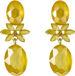 TEMPUS FUGIT Geschenk für Damen. Lange Party-Ohrringe. Modisches Design Vergoldet, mit funkelnden Kristallen, inkl. Geschenkbox