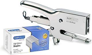 Rapesco HD73 - Kit de grapadora metalica de gruesos y 2000 grapas 73/12 mm, 70 hojas de capacidad