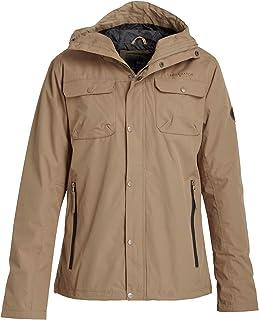 Crosshatch Mens Rainout Hooded Chest Pocket Jacket in Mustard- Zip Thru Jacket