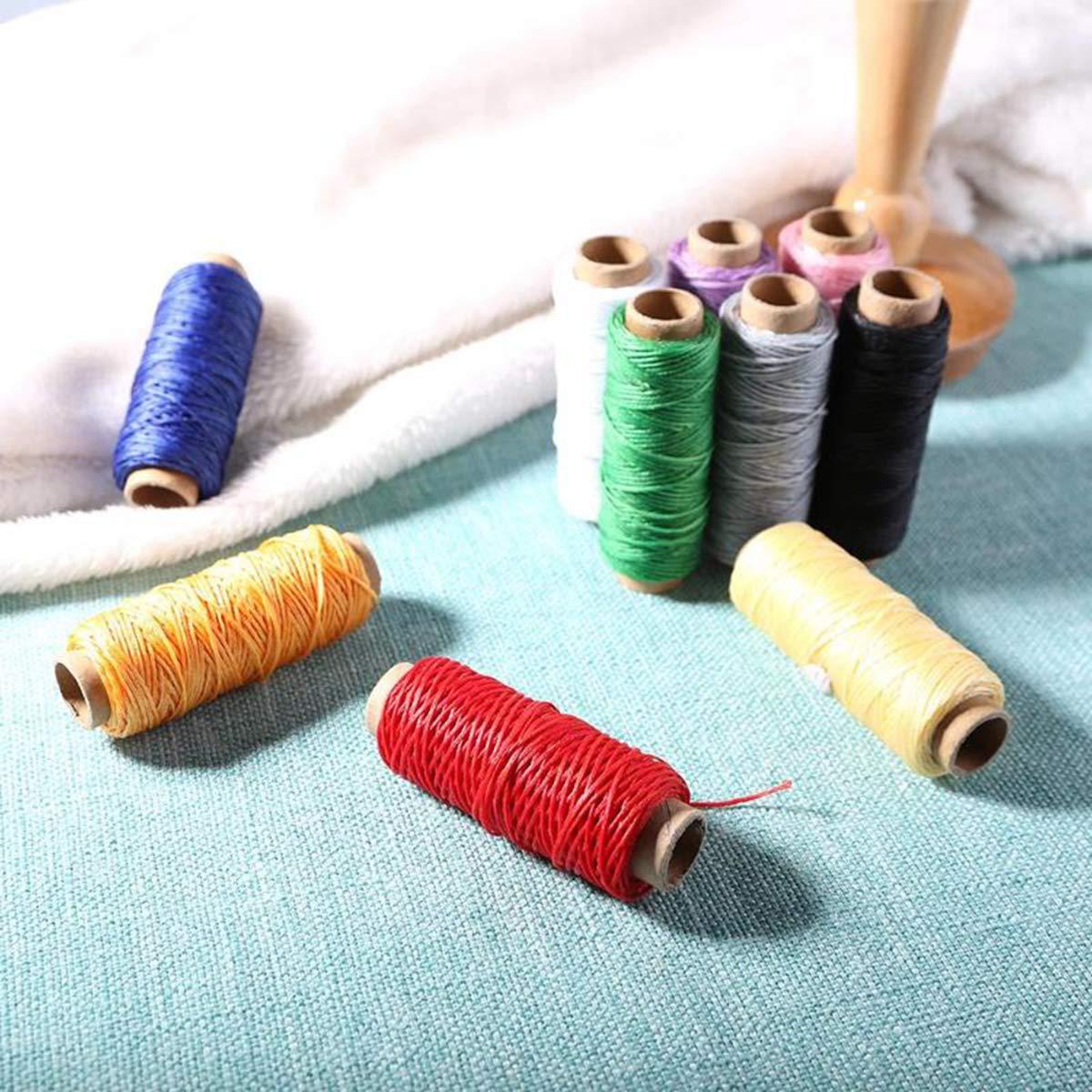 10 piezas de 150D 50M coser cuero Cera de rosca hecha a mano del ...