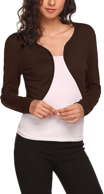Hotouch Shrug Bolero Portland Mall Cardigan for Littl Short Womens Sleeve Long New products, world's highest quality popular!
