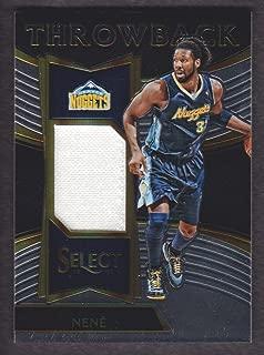 2016-17 Select Basketball Throwback Memorabilia #28 Nene Jersey 133/199 Denver Nuggets