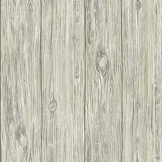 RoomMates Mushroom Wood Grey Peel and Stick Wallpaper