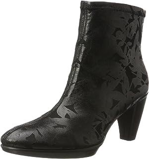 حذاء برقبة حتى الكاحل للنساء من ايكو الشكل 55 بلاتو ، أسود