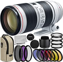 Canon EF 70-200mm f/2.8L is III USM Lens 9PC Accessory Bundle – Includes Manufacturer Accessories + 3PC Filter Kit (UV-CPL-FLD) + More (Renewed)