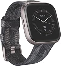 Fitbit Versa 2 Special Edition (NFC), Health & Fitness Smartwatch with Heart Rate, Music, Sleep & Swim Tracking, One Size (S & L Bands Included), Smoke Woven [Pre-Order]