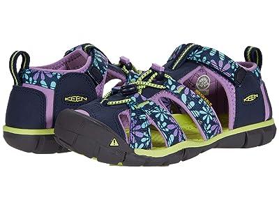 KEEN Kids Seacamp II CNX (Little Kid/Big Kid) (Black Iris/African Violet) Girls Shoes