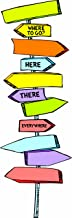 Eureka Back to School Dr. Seuss Directional Signs Bulletin Board and Classroom Decorations, 14pc, 6.5'' W x 26'' H