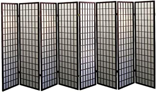 Legacy Decor 8 Panel Japanese Oriental Style Room Screen Divider Espresso Color
