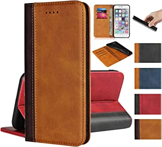 Jaorty for Sony Xperia XZ XZS Wallet Case,Premium PU Leather Flip Folio Case with Card Slot,Kickstand Holder Magnetic Closure [TPU Shockproof Interior Protective Case] for Sony XZS,Khaki+Brown