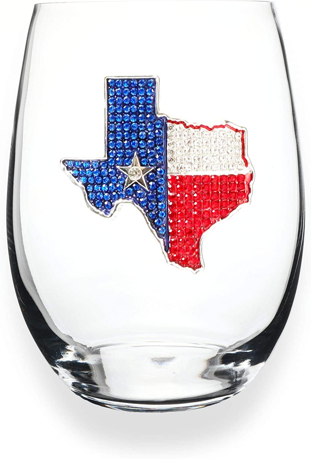 THE QUEENS' JEWELS Texas State Jeweled f Unique - Max 44% OFF Gift Glassware Special price for a limited time