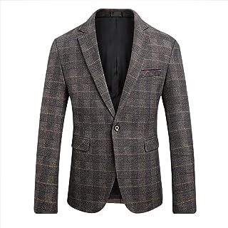 7c5964742623 Men's Blazer Jacket Herringbone Sport Coat Smart Formal Dinner Cotton Suits  Slim Fit One Button Notch