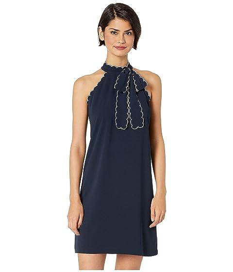 9ee413b2c03 CeCe Sleeveless Tie Neck Halter Dress w  Trim at Zappos.com