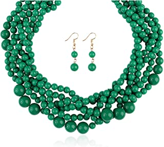 Best navy and coral statement necklace Reviews