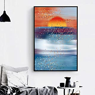 """Posters art Prints Artistic Print Sunset Canvas Painting Nordic Abstract Wall Pictures For Living Room Modern Decor 28.7""""x..."""