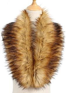 Yetagoo Faux Fur Collar Women's Neck Warmer Scarf Wrap Gatsby 1920s Shawl Accessories