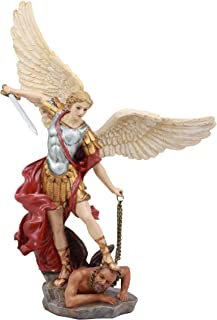 Ebros Large Guido Reni Baroque Art Saint Michael The Archangel Trampling On The Devil Statue Guardian Protector Decor Figurine Patron of Police Soldiers Doctors