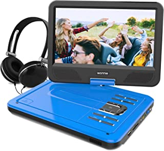 WONNIE 12.5 Inch Portable DVD Player with 4 Hour Rechargeable Battery,10.5