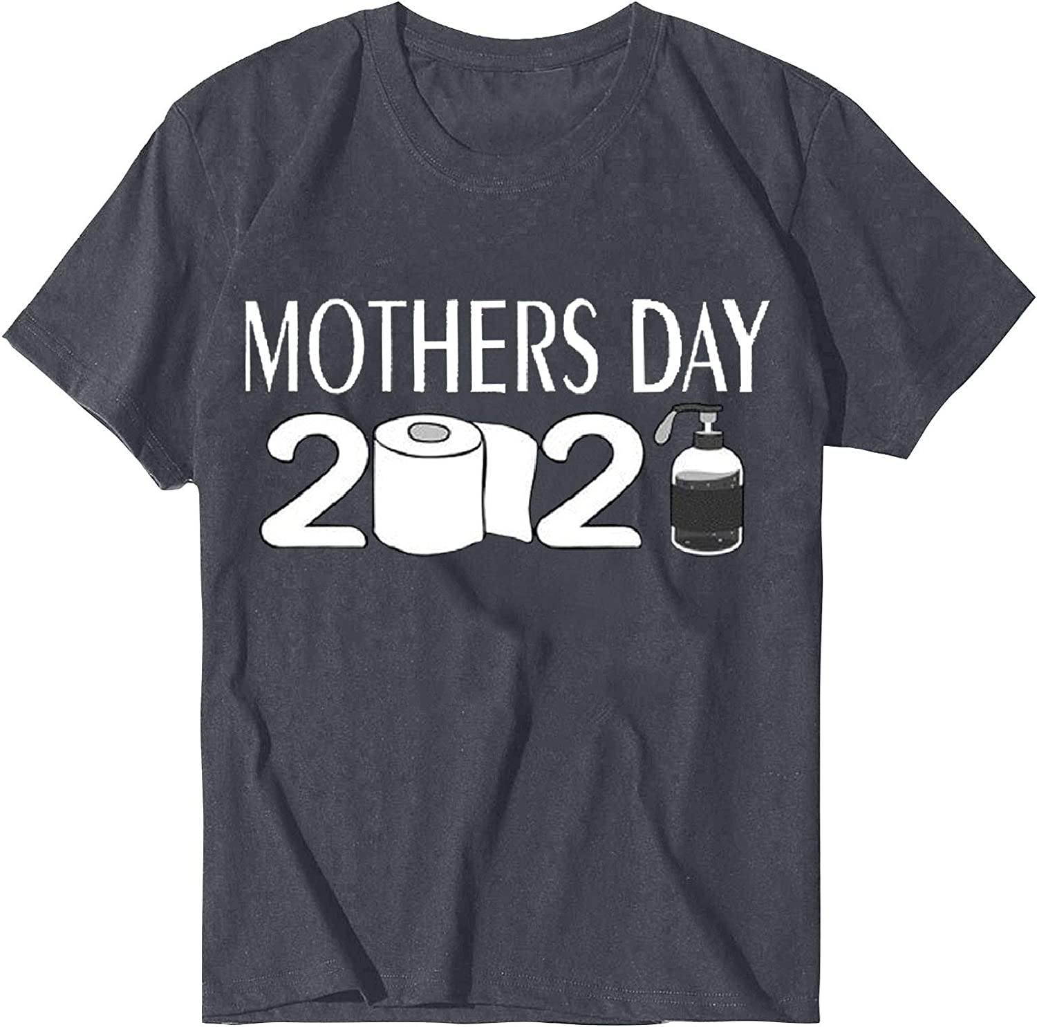 Shirts for Women Yuaekjes Happy Mother's Day Letter Print T-Shirt Short Sleeve O-Neck Loose Fit Blouse Tee Tops Tunic