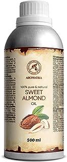 Mandel Öl Raffiniert 500ml - Reines und Natives Mandelöl - Prunus Amygdalus Dulcis Oil - Italien - Gesichtöl - Körperöl - Haare Öl - Massageöl