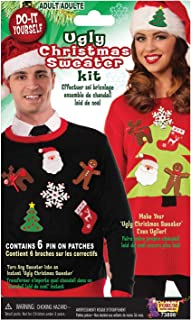 Men's Do It Yourself Ugly Christmas Sweater Kit, Multi, One Size