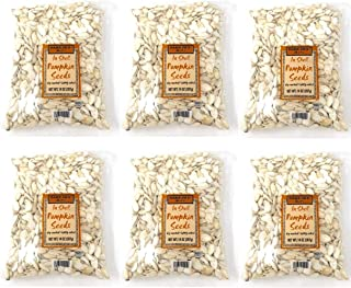 Trader Joes In Shell Pumpkin Seeds - Pack of 6 Bags - 14 oz Per Bag - Dry Roasted, Lightly Salted