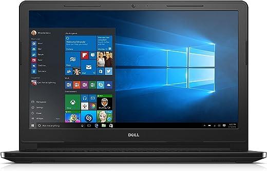 لابتوب ديل انسبيرون 3552 - انتل سيليرون N3060، مقاس 15.6 انش، 500 جيجا، ذاكرة RAM 4 جيجا، ويندوز 10، لوحة مفاتيح انجليزية/عربية - اسود