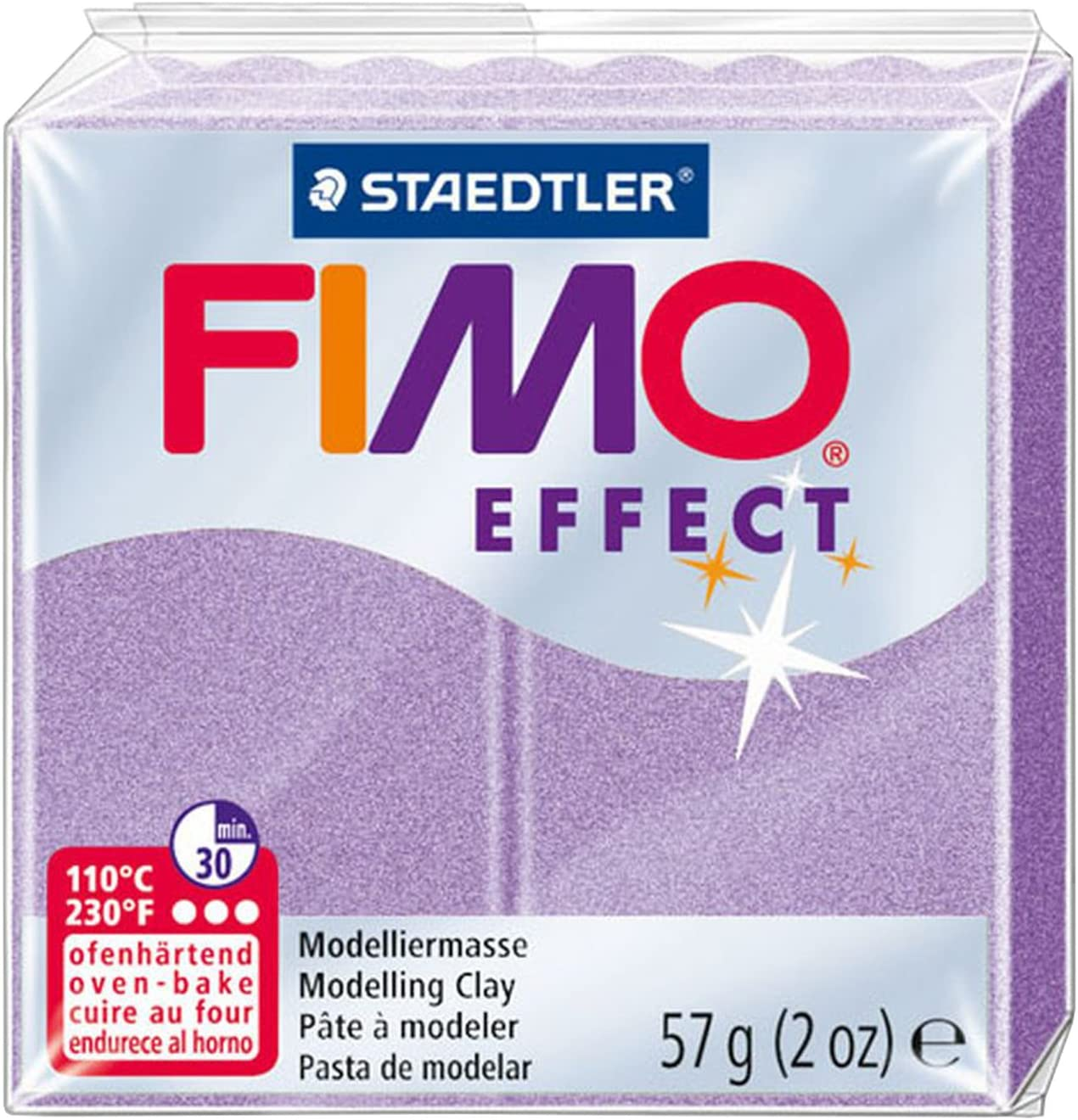 Staedtler 8020-607 2 oz Lilac Pearl Fimo Effect Polymer Clay