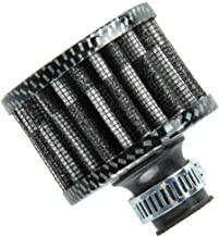 Etopars 12mm Mini Carbon Fiber Universal Car Motor Cone Cold Clean Air Intake Filter Turbo Vent Vehicle