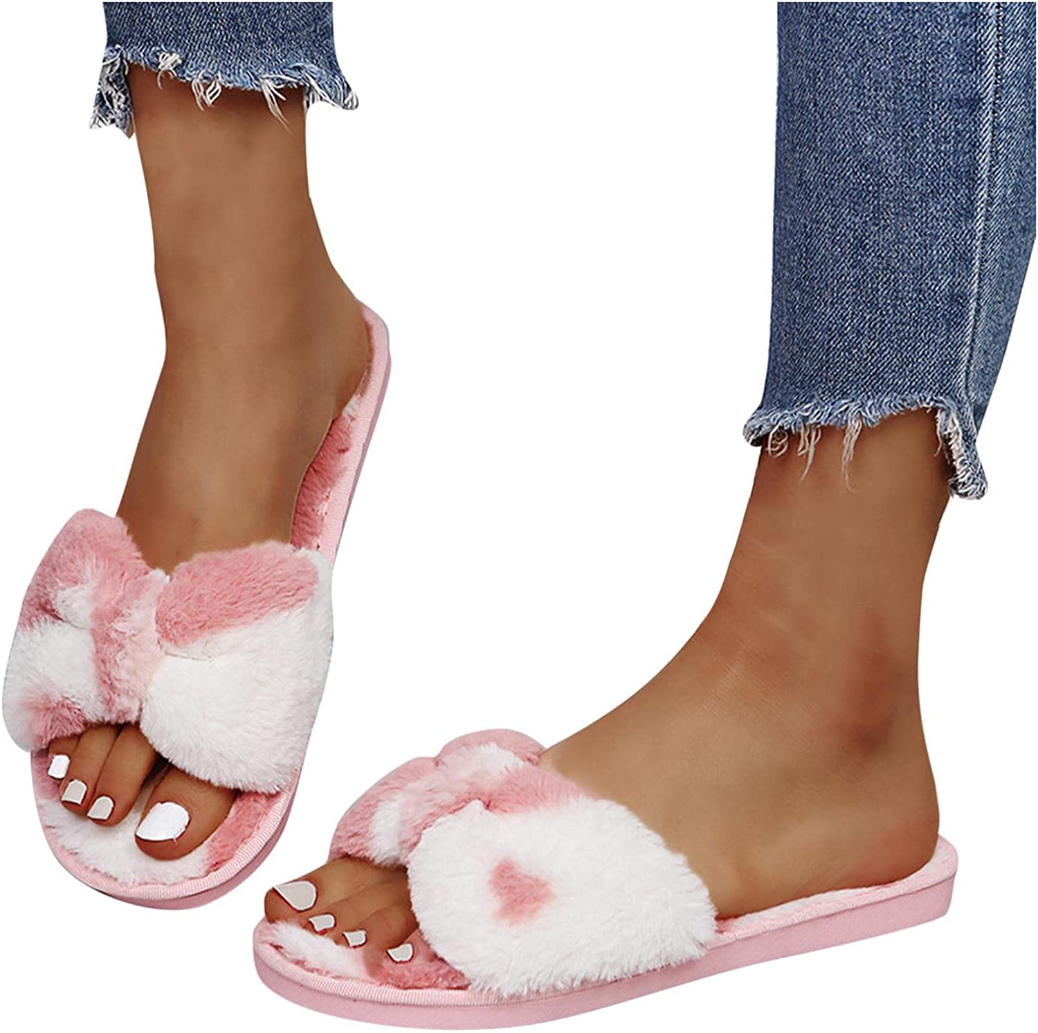 AgrinTol Slippers Online limited product for Sale price Women Cow Pattern Bo Plush Casual
