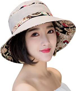 5743a71b89a HINDAWI Sun Hats for Women Packable Sun Hat Wide Brim UV Protection Beach  Sun Cap