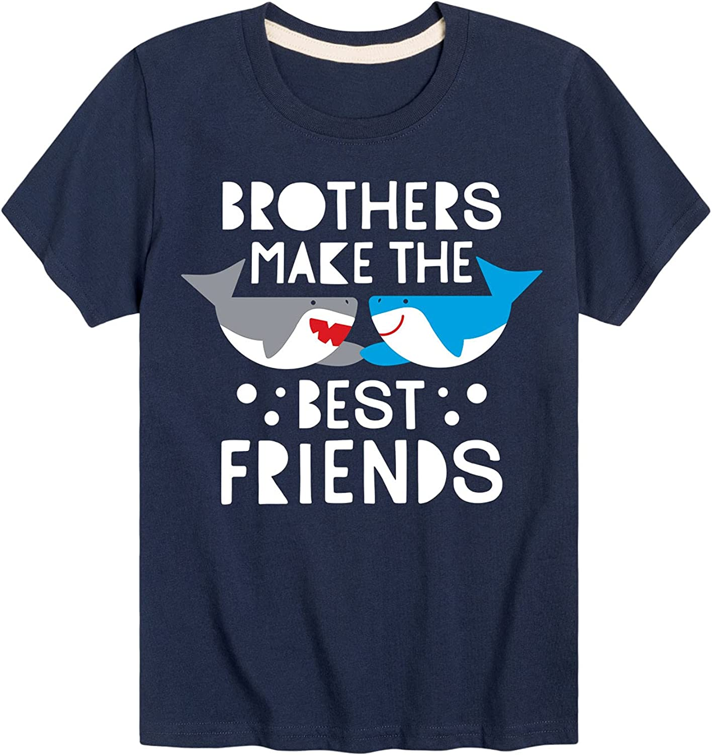 Brothers Best Friends Shark - Toddler and Youth Short Sleeve T-Shirt