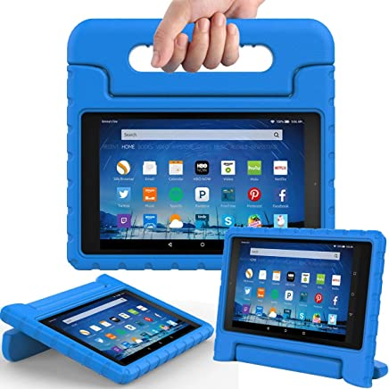 AVAWO Shock Proof Case For Fire Hd 8 2017 Tablet - Kids Shockproof Convertible Handle Light Weight Protective Stand Case For Fire Hd 8-Inch , Blue