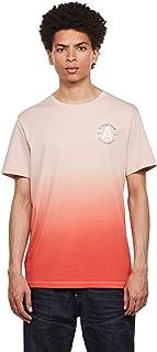 G-STAR RAW Logo Graphic Dip Dye Straight Camiseta para Hombre