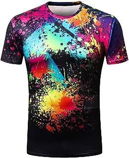 T Shirt for Men Beachwear Casual Short Sleeve Hawaiian Tanks Blouse Tops 3D Printed Tees