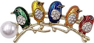 diamond bird brooch