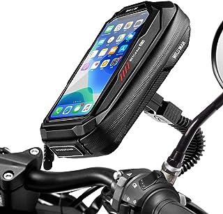 Faneam Impermeable Soporte Móvil para Motocicle Scooter 360° Rotación Soporte Telefono Motocicleta Retrovisor Universal So...