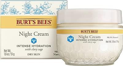 Burt's Bees Intense Hydration Night Cream, Moisturizing Night Lotion, 1.8 Ounces