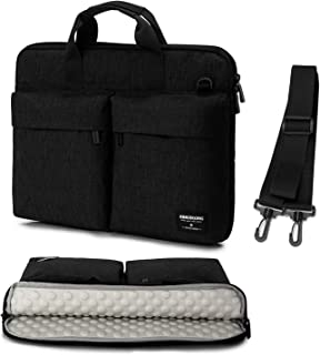 Laptop Bag Case 17 17.3 inch with Shoulder Straps & Handle 15 15.6 Slim Computer Carrying Sleeve Cover