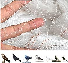 sac taske 透明 防鳥ネット ベランダ 鳥よけ 網 田畑 鳥害対策 & 結束バンド 100本 (2m×15m)