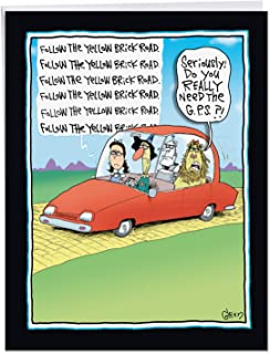 Jumbo Oz GPS: Funny Cartoon Father's Day Traveling Card With Envelope (Extra Large Version: 8.5'' x 11'') J7004