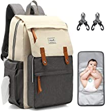 Diaper Bag Backpack, Multifunction Waterproof Travel Maternity Baby Care Changing Bags, Stylish Nappy Bags for Mom & Dad w...