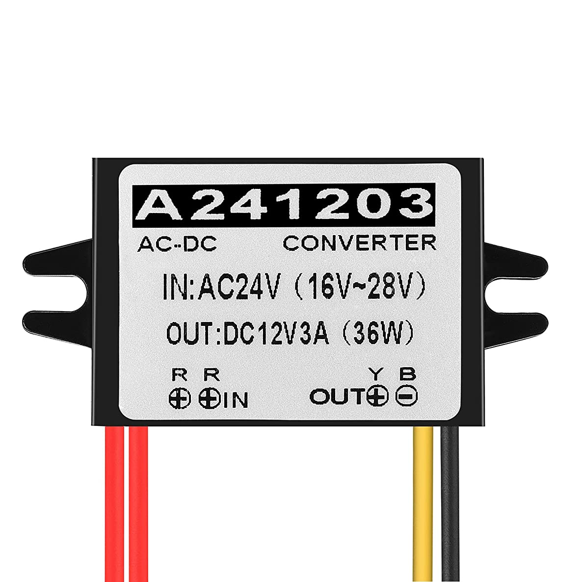 Aweking Waterproof AC/DC AC24V to DC12V 3A 36W Voltage Converter Regulator Transformer Power Supply for Car Truck Vehicle CE Listed