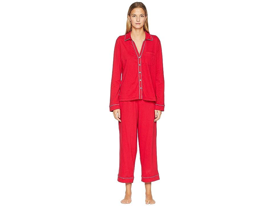 Skin Natural Skin Petra Crop Pants PJ 25 Top and 24 1/2 Pants (Crimson) Women